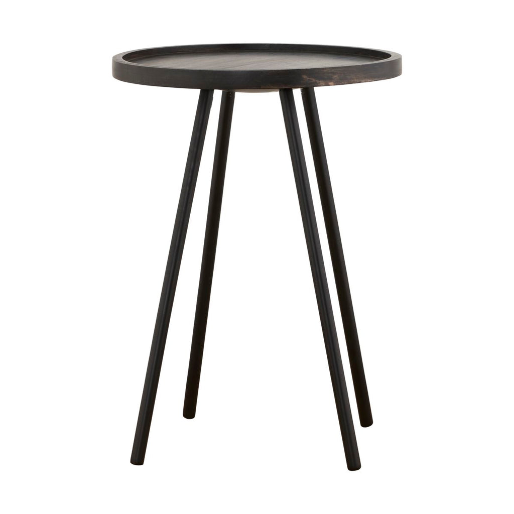 Wood and Metal Tall Side Table