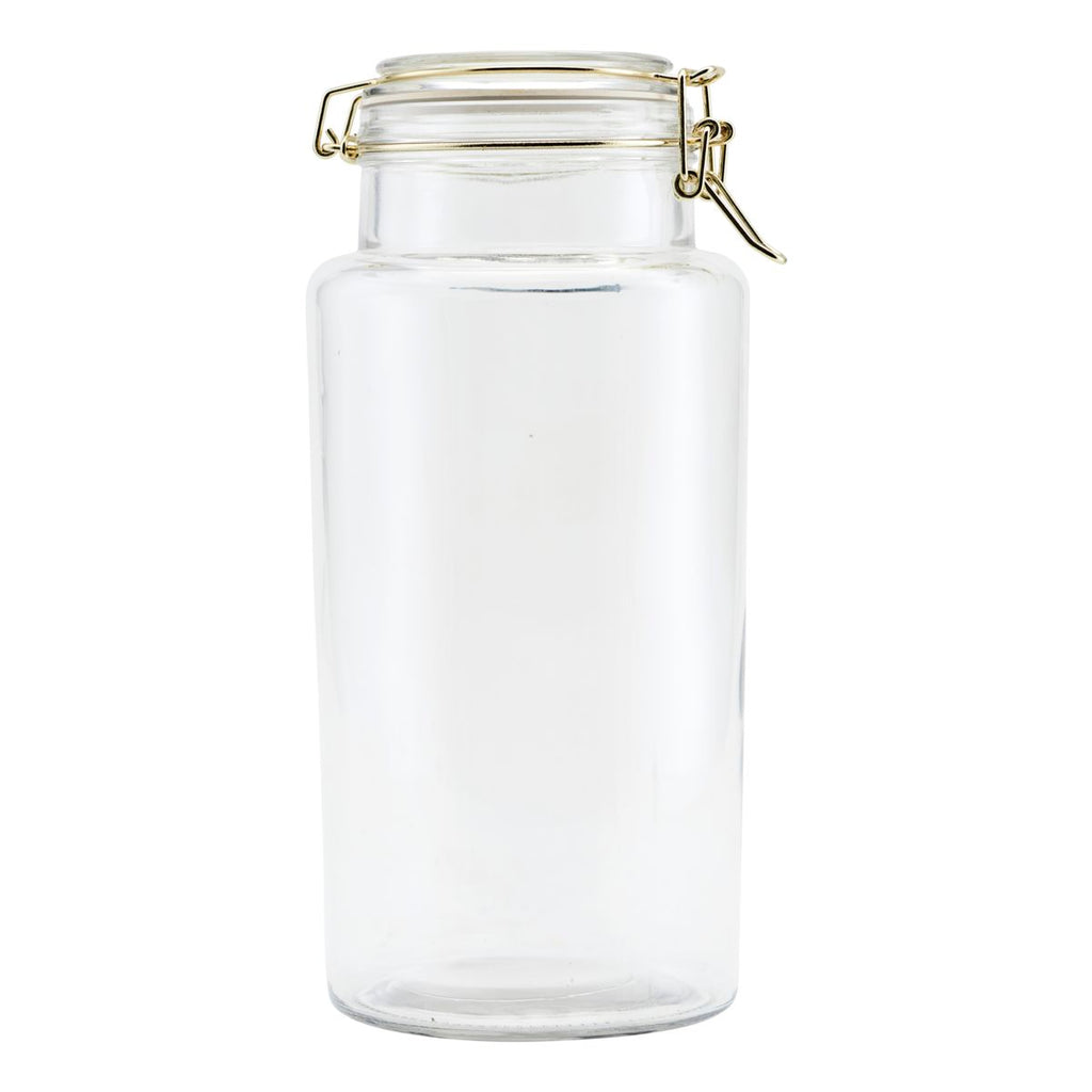 Glass and Brass Storage Jar