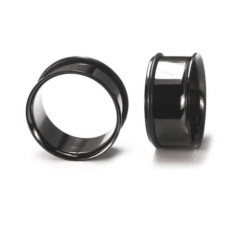 Black Steel Single Flared Tunnel - Ask and Embla Store