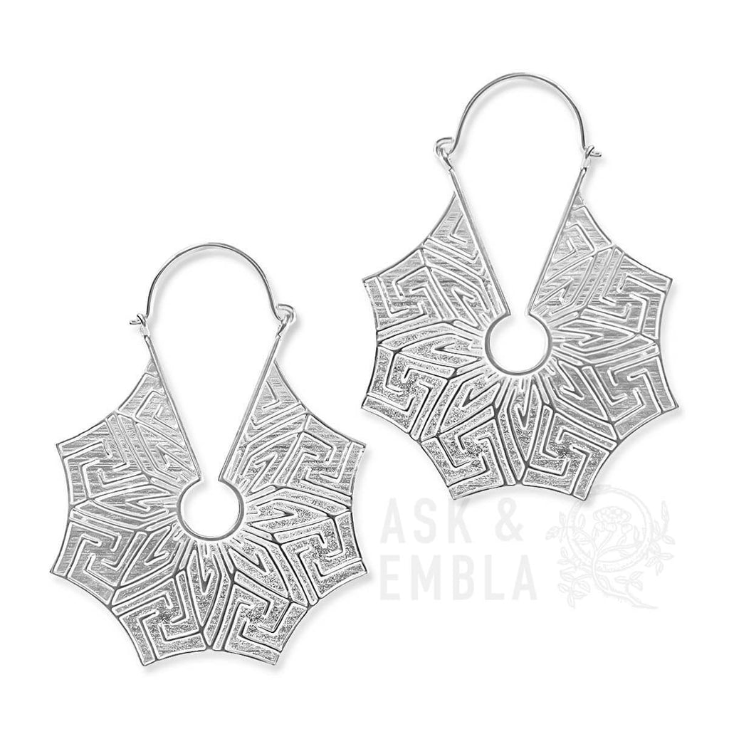 Aegar Inca Earrings in Silver (PAIR)