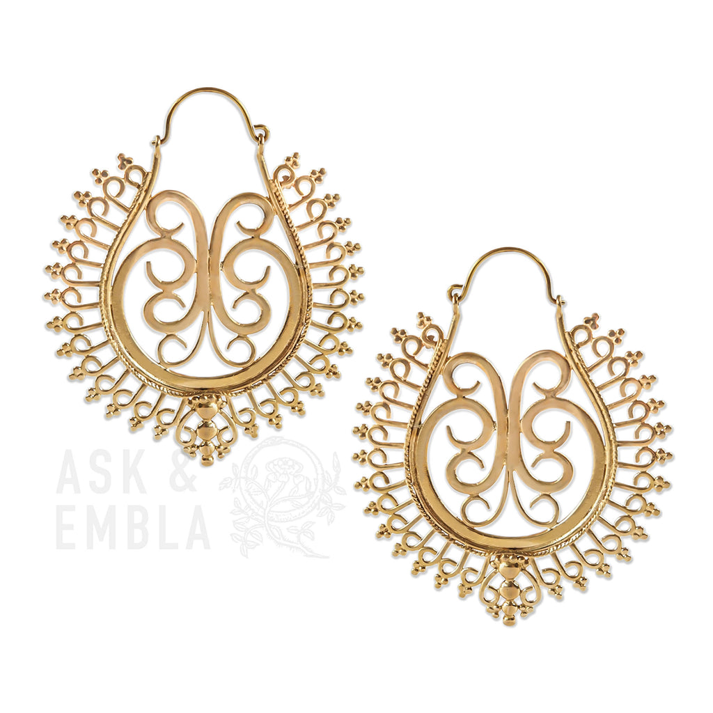 Luella Brass Inca Earrings (PAIR)