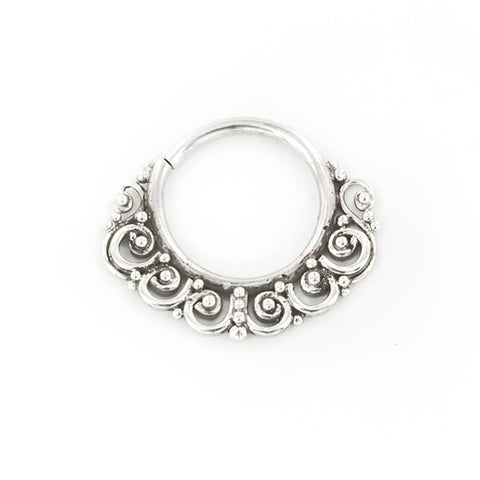 Priya Septum Ring in Silver - Ask and Embla Store