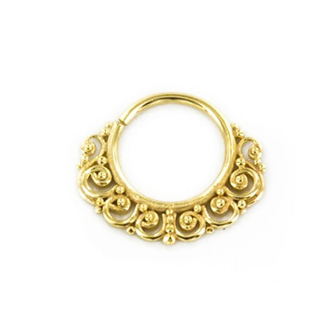 Priya Septum Ring in Gold - Ask and Embla Store
