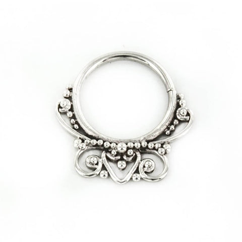 Ashvasa Septum Ring in Silver - Ask and Embla Store