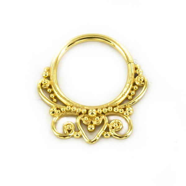 Ashvasa Septum Ring in Gold - Ask and Embla Store
