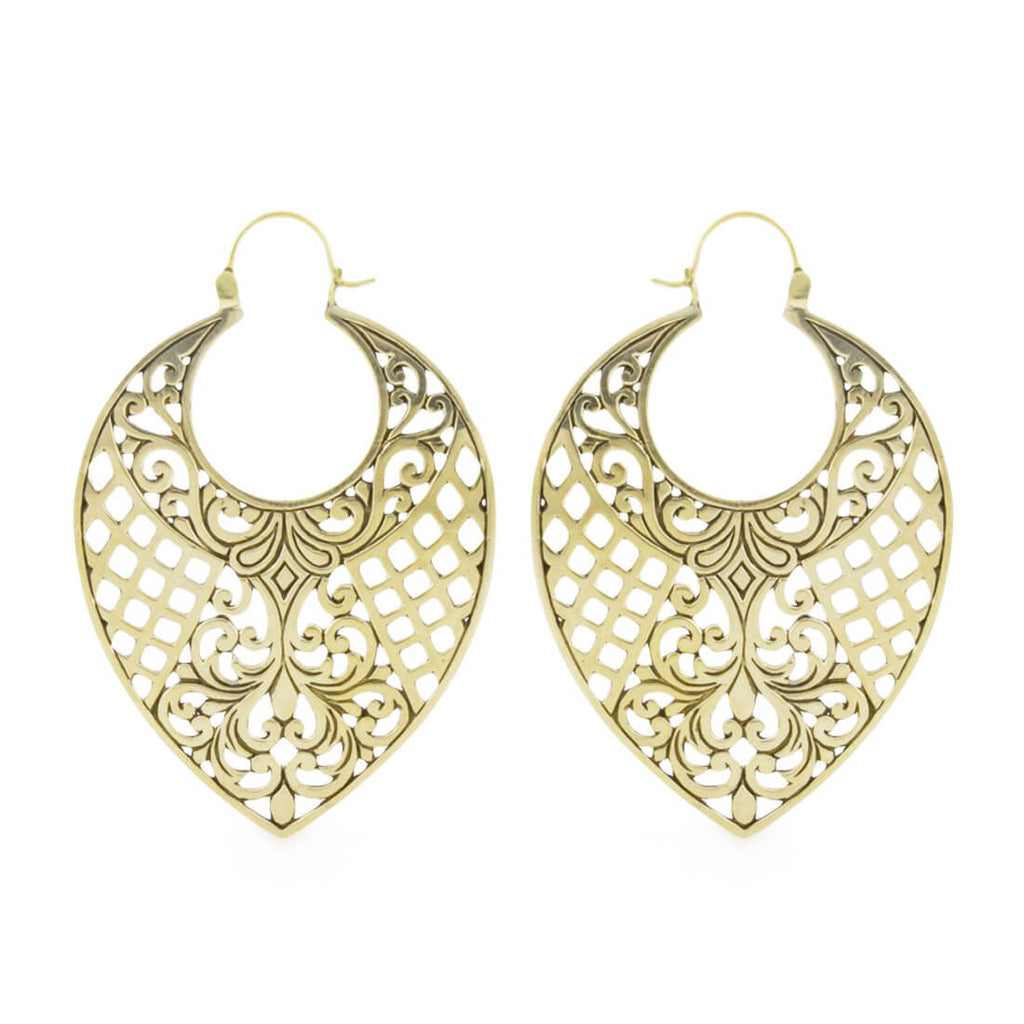 Aniva Brass Weave Inca Earrings (PAIR)