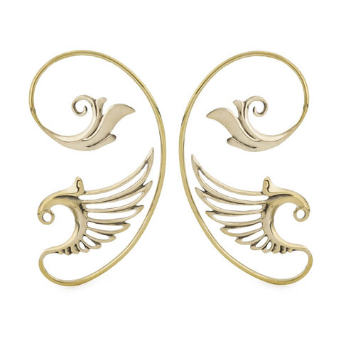Saqqara Brass Wing Elven Ear Wraps (PAIR)