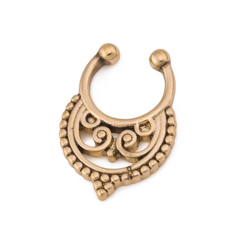 Ixa Brass Faux Septum Clip - Ask and Embla Store