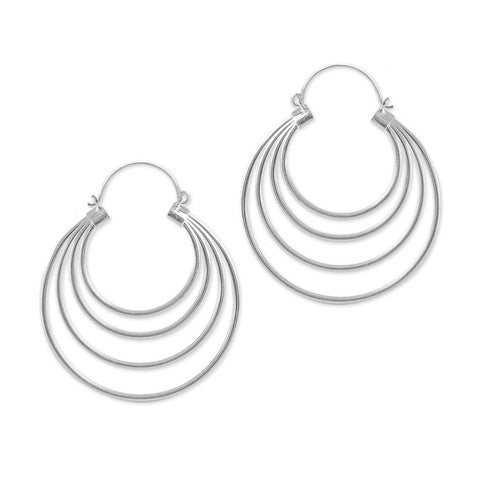 Voria Silver Inca Earrings (PAIR)
