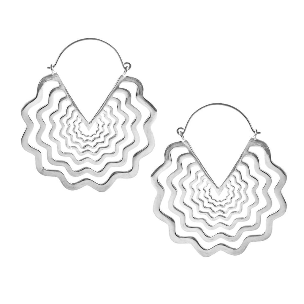 Vyra Inca Earrings in Silver (PAIR)