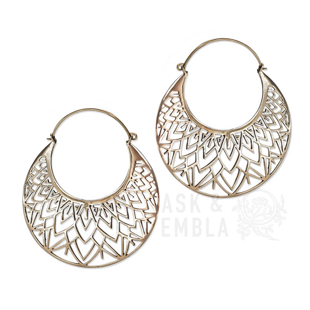 Xorona Inca Earrings in Gold (PAIR)