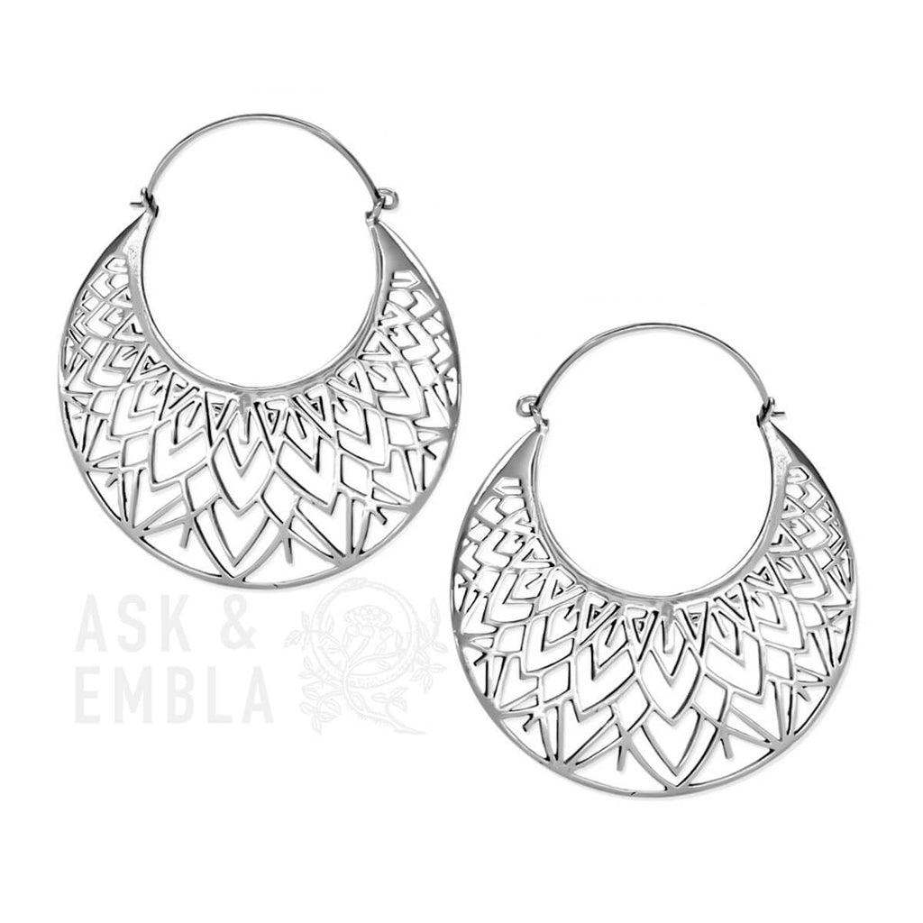 Xorona Inca Earrings in Silver (PAIR)