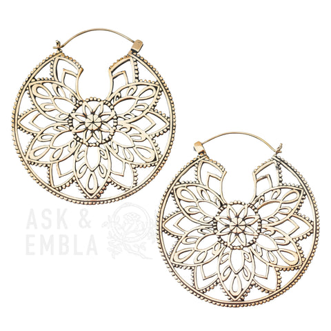 Angora Brass Inca Earrings (PAIR)