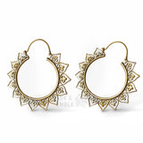 Ava Mandala Inca Earrings in Gold (PAIR)