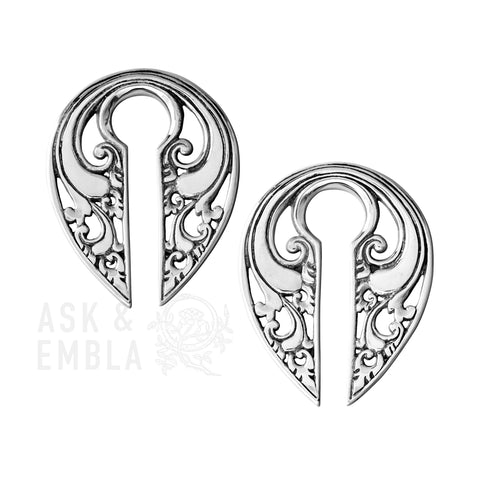 Elra Fang White Brass Hanger (PAIR)