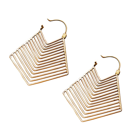 Kabra Brass Inca Earrings (PAIR)