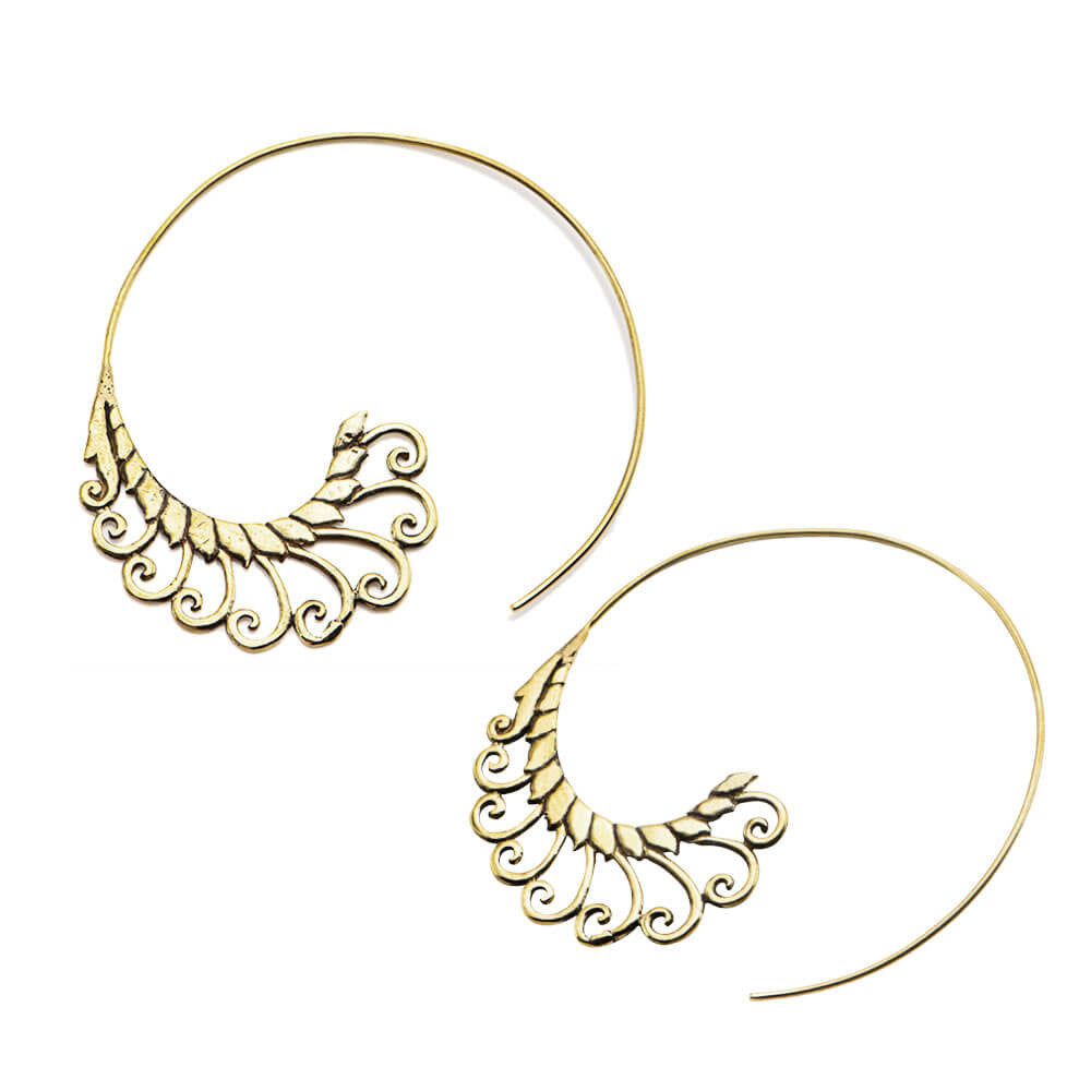 Brass Fillilius Inca Earrings (PAIR) - Ask and Embla Store