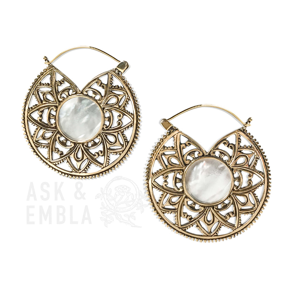 Kiva Brass Mandala Earrings (PAIR)