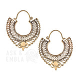 Mansa Brass Inca Earrings (PAIR)