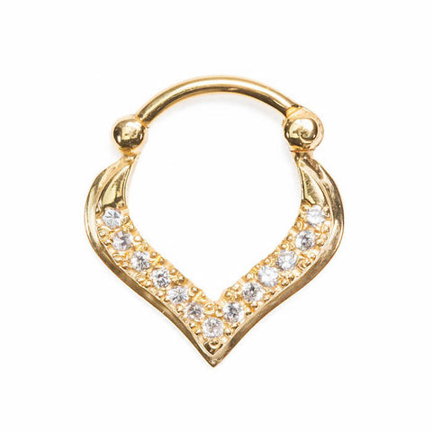 Bejewelled Freya Teardrop Septum Clicker - Ask and Embla Store
