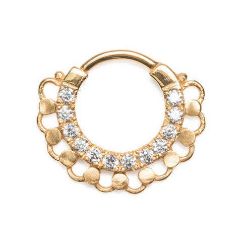 Gahana Bejewelled Teardrop Septum Clicker - Ask and Embla Store