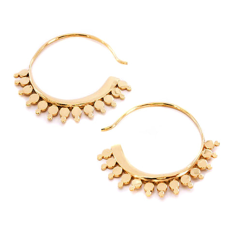 Ladora Gold Inca Earrings (PAIR)