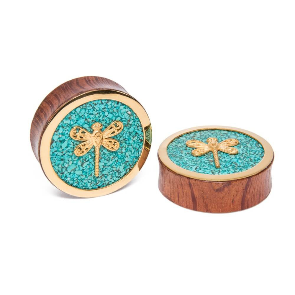 Ocean Stone Dragonfly Plugs - Ask and Embla Store - 1