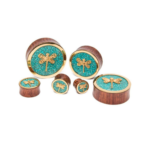 Ocean Stone Dragonfly Plugs - Ask and Embla Store - 2