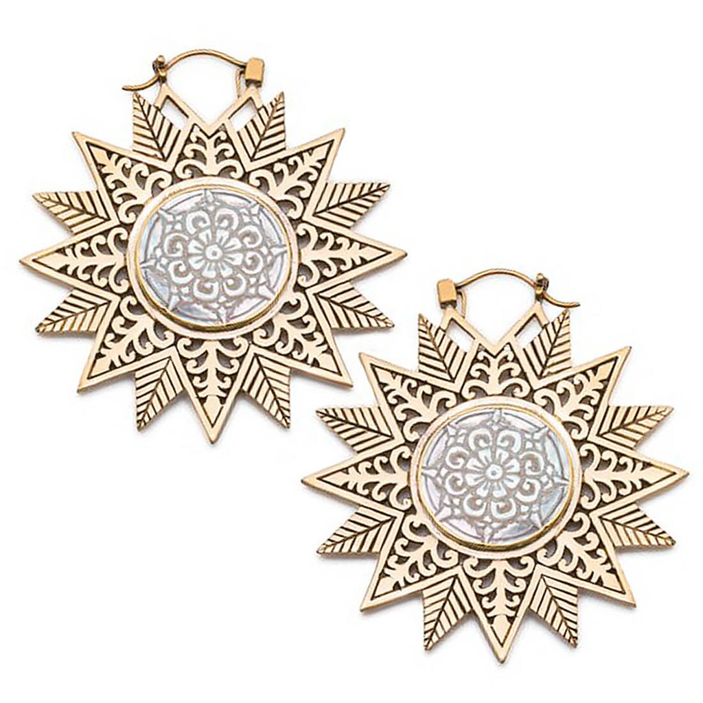 Marla Snowflake Mandala Inca Earrings (PAIR)