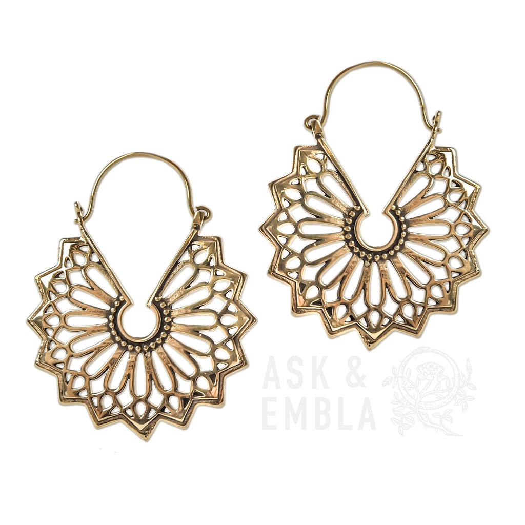 Orifan Brass Inca Earrings (PAIR)