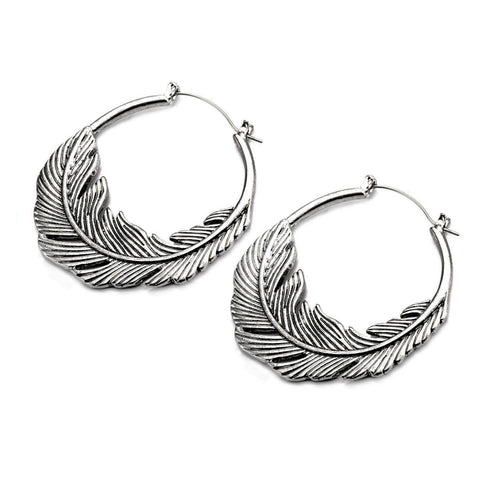 Silver Feather Inca Earrings (PAIR) - Ask and Embla Store - 2