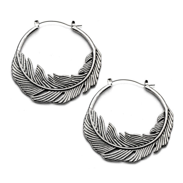 Silver Feather Inca Earrings (PAIR) - Ask and Embla Store - 1