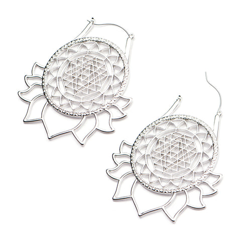 Elta Lotus Inca Earrings (PAIR)
