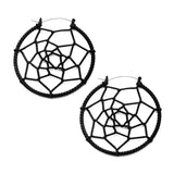 Black Dreamcatcher Inca Earrings (PAIR) - Ask and Embla Store - 1