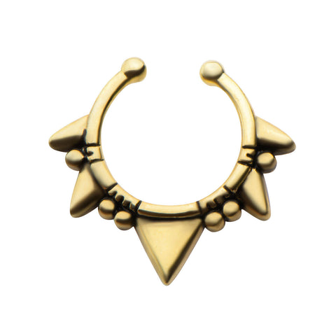 Gold Katera Faux Septum Clip - Ask and Embla Store - 1
