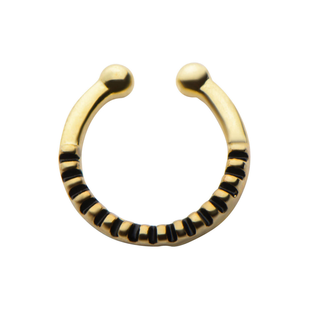Gold Anessa Faux Septum Clip - Ask and Embla Store - 1