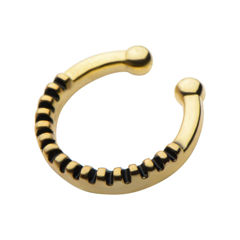 Gold Anessa Faux Septum Clip - Ask and Embla Store - 2