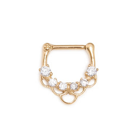 Kira Bejewelled Steel Septum Clicker