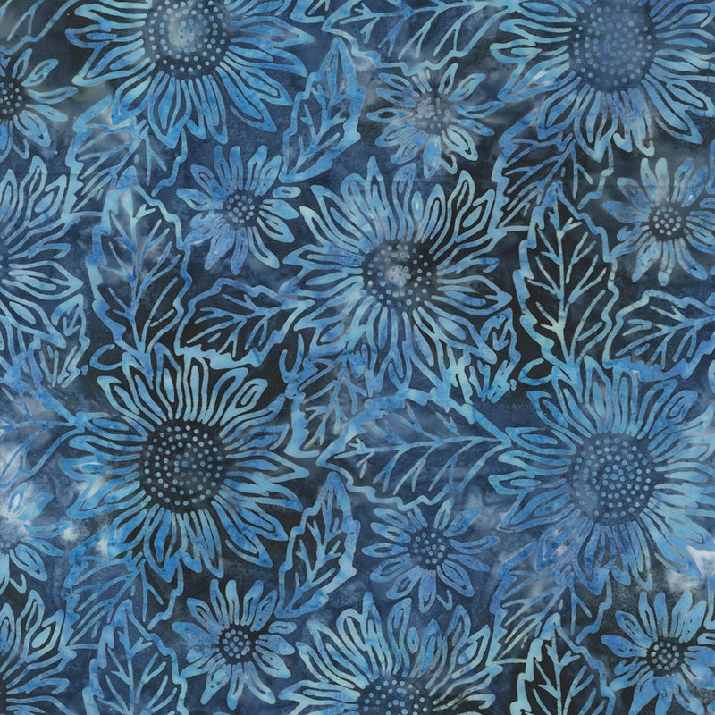 Blue Sunflower Batik