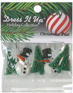 Christmas Past Button Pack 6pcs