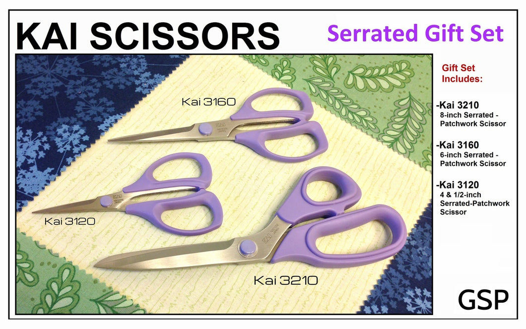 Kai Scissors Serrated Gift Set