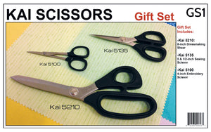 Kai Scissors Black Gift Set