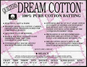 Quilter's Dream Cotton Batting