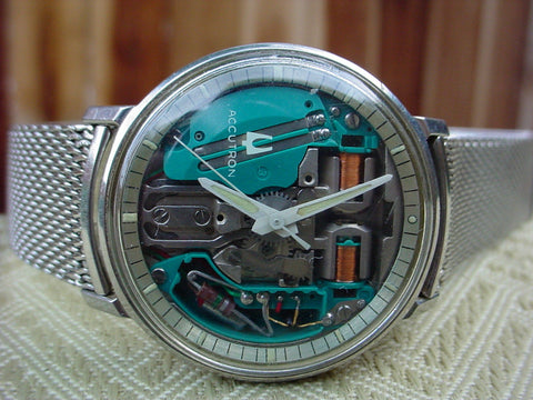 1969 - Bulova Accutron Spaceview Watch Stainless Steel Case - M9