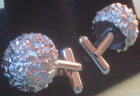 Cuff-links - Brain Ball Spectrum Geometric Design - Vtg. 1900's