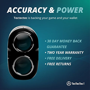 TecTecTec VPRO500 Golf Rangefinder - Laser Range Finder with Pinsensor - Laser Binoculars - Free Battery