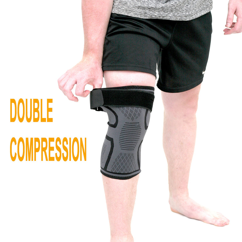 Knee Brace Compression Sleeve 1pcs 3D Nylon Knee Support Brace for Meniscus Tear, Arthritis, Pain Relief, Injury Recovery - Comfortable and Breathable Knee Sleeve for Running, Sports