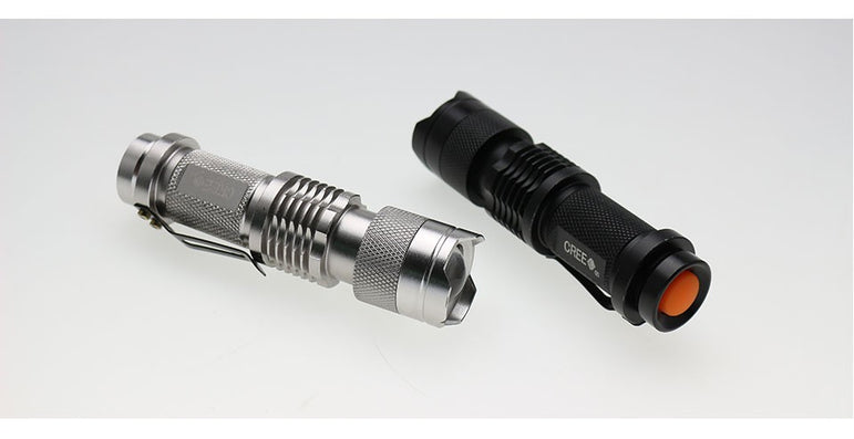 Adjustable Focus Mini Flashlight CREE Q5 2000 Lumens LED Flashlight Torch Lantern AA 14500 Torch Linterna LED Mount