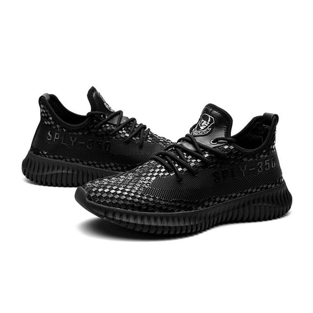 Running Sports Shoes PU Imitation Leather Ultra-Soft Breathable Lace-up Slip-resistant Shock-absorption For Men Drop Shipping