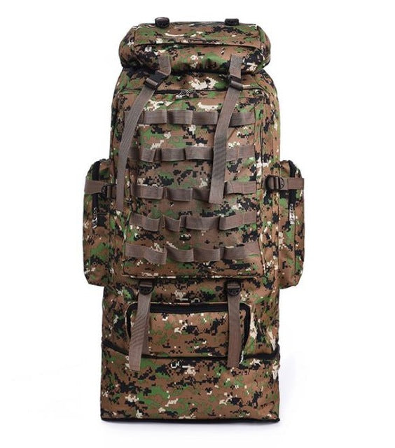 Hot 100L Large Capacity Outdoor Mountaineering Backpack Camping Hiking Military Molle Water-repellent Tactical Bag Adjustable